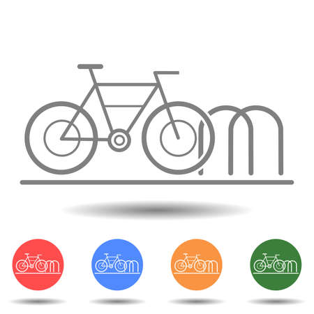 Bicycle parking icon vector logo isolated on background