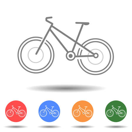Modern bicycle icon vector logo isolated on background