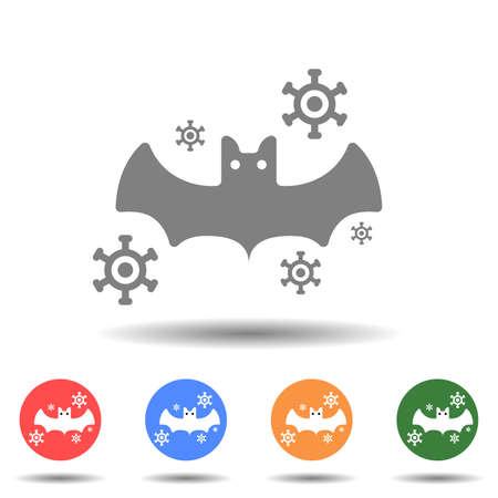 Bat virus icon vector logo isolated on background 矢量图像