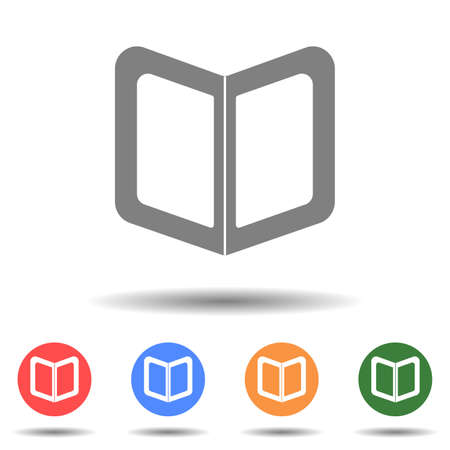 Book with bookmark icon vector logo with a isolated background