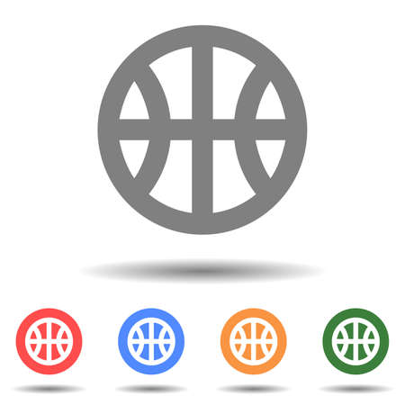 Basketball ball icon vector logo with a isolated background