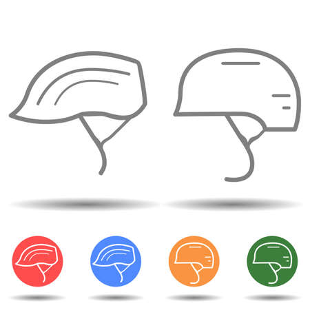 Bicycle helmet icon vector logo isolated on background