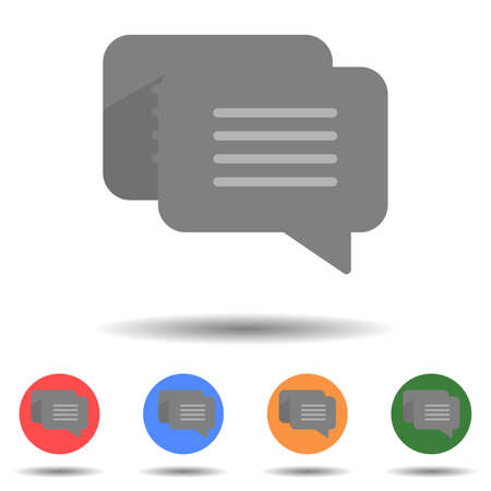 Chat, communicate icon vector logo isolated on background