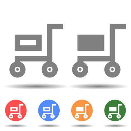 Filled and empty cart icon vector logo isolated on background 矢量图像