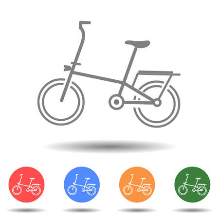Woman bicycle icon vector logo isolated on background