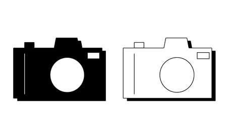 Camera DSLR icon vector logo isolated on background
