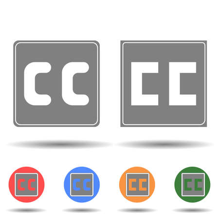 CC Creative Commons icon vector logo isolated on background 矢量图像