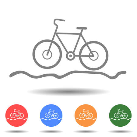 Bicycle for the off-road icon vector logo isolated on background