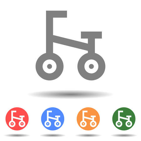 Bike icon vector logo with a isolated background 矢量图像