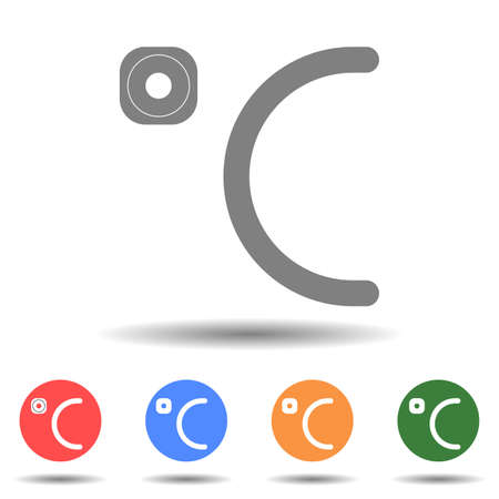 Celsius close up icon vector logo isolated on background