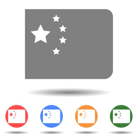 Chine flag icon vector logo isolated on background