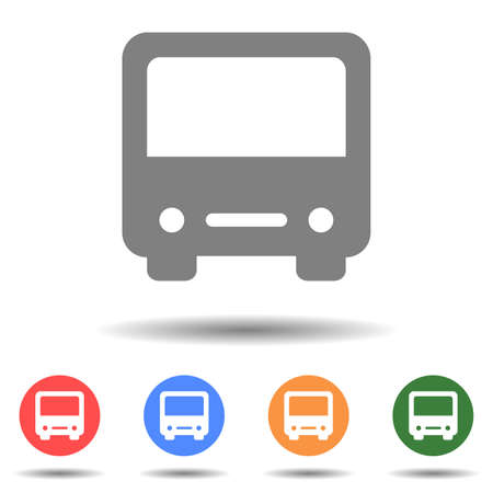 Bus front icon vector logo isolated on background