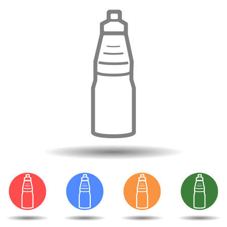 Linear water bottle icon vector logo isolated on background