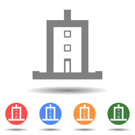 Building skyscraper icon vector logo isolated on background 矢量图像