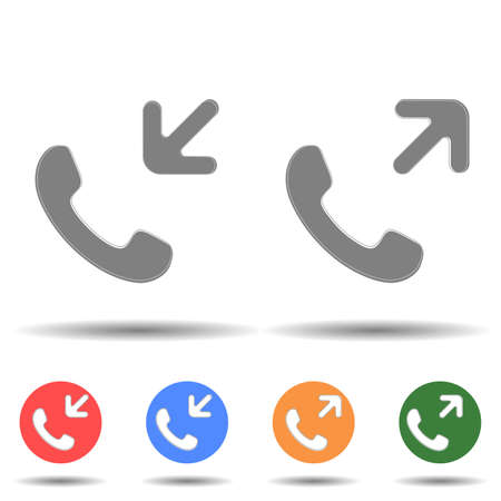 Income and outcome call icon vector logo isolated on background