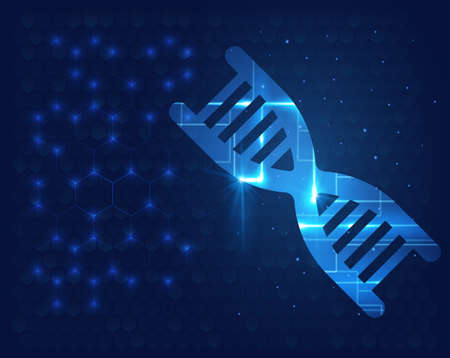 Human DNA molecule background. Science shining vector illustrator