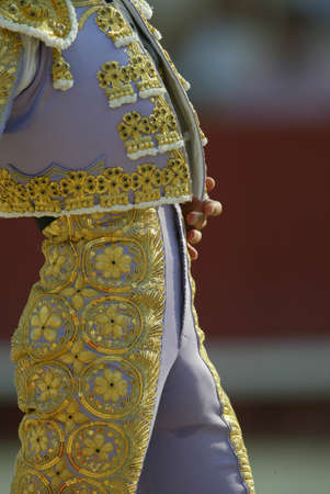 bullfighter: Detail of the suit of a bullfighter