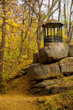 yellow leaves autumn Ukraine Uman Sophia Park Archivio Fotografico