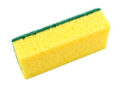 finery: Dish washing sponge isolated on white background