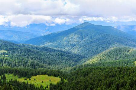 Bright picturesque Carpathian mountains landscape. Chornogora ridge, Ukraine, Europe