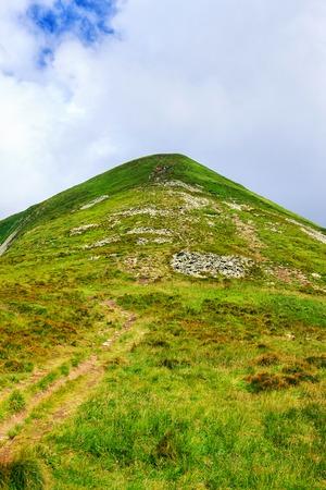 Picturesque Carpathian mountains landscape, view of mount Hoverla, Ukraine Stock Photo