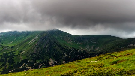 Picturesque Carpathian mountains, nature landscape in summer, Ukraine Stock Photo