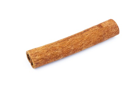Cinnamon stick isolated on white background, close-up Stock Photo