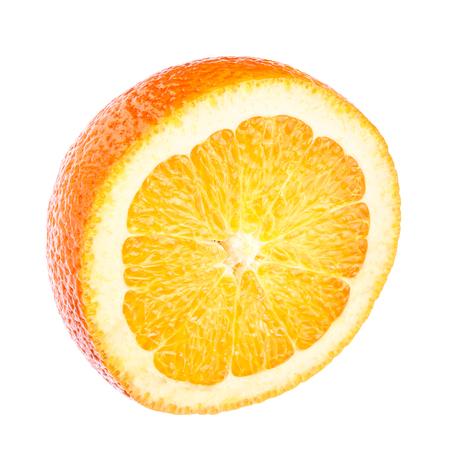 Half of orange, citrus fruit, isolated on white background, clipping path. Stock Photo