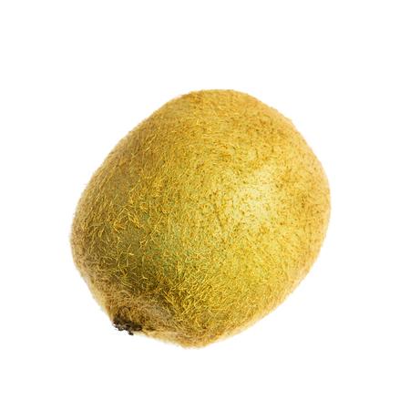 One kiwi fruit isolated on white background.