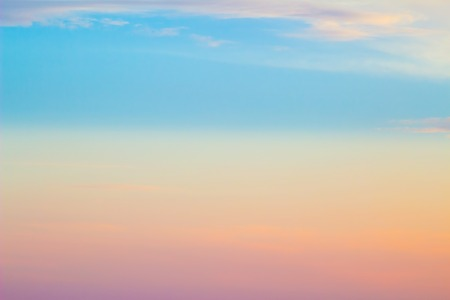 Colorful sky with clouds at sunset, abstract background. Stock Photo