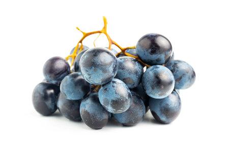 Dark blue grape fruit isolated on white background.