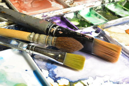 pallette: Artiste Pallette Banque d'images