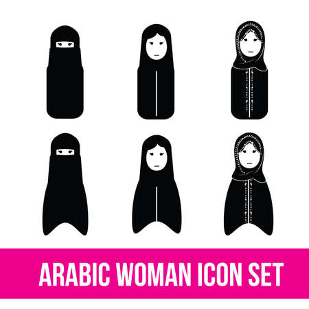 arabic: Arabic woman set, gulf