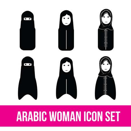 Arabic woman set, gulf