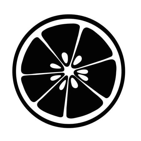 citrus slices lemon, lime and grapefruit, black isolated on white background.