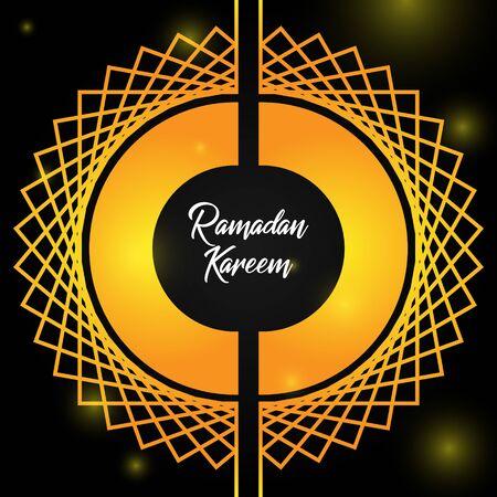 the beauty of Ramadan full of forgiveness - Ramadhan Kareem, with separate circle  イラスト・ベクター素材