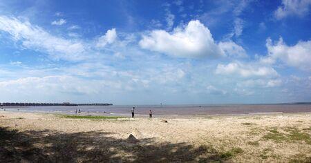 scenary: Beach scenary with beautiful sky Stock Photo