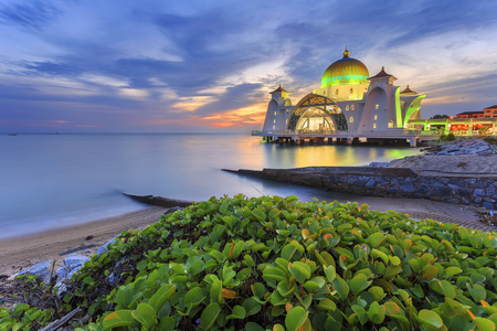 straits: Malacca Straits Mosque ( Masjid Selat Melaka), It is a mosque located on the man-made Malacca Island near Malacca Town, Malaysia.