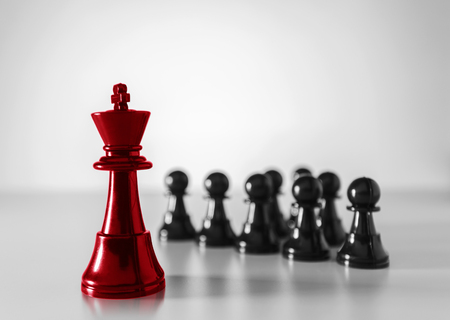 Chess business concept, leader & success. Selective focus, shallow depth of field.