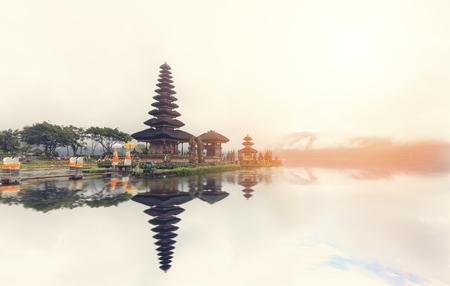The Pura Ulun Danu Bratan Temple in Bali Stock Photo