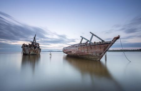 Two Ship Wreck in Kuala Penyu, Sabah, Malaysia