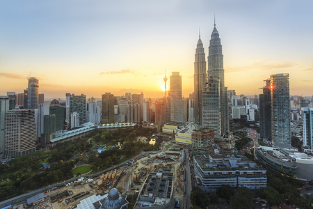 City of Kuala Lumpur at the sunset Foto de archivo