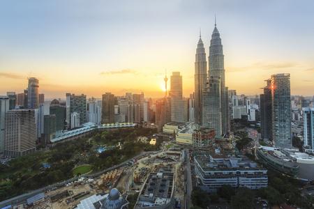 City of Kuala Lumpur at the sunset Stockfoto