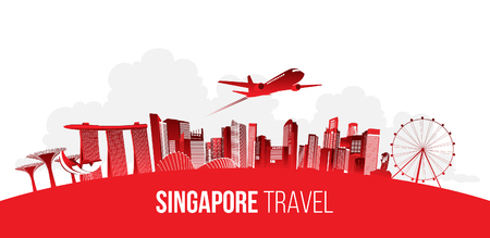 Singapore travel concept. vector illustration. Archivio Fotografico - 103859892