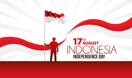 Illustrazione vettoriale di celebrazioni del Giorno dell'Indipendenza dell'Indonesia.