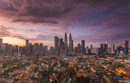 City of Kuala Lumpur, Malaysia at sunrise Sajtókép