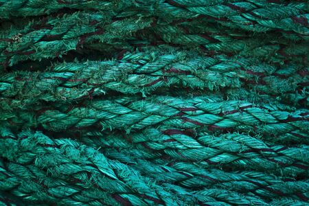Decorative, beautiful rope of the cruise ship photo
