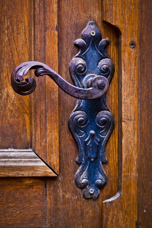 Decorative antique door handles photo
