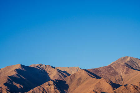 Landscape mountain with blue sky at Leh ladakh