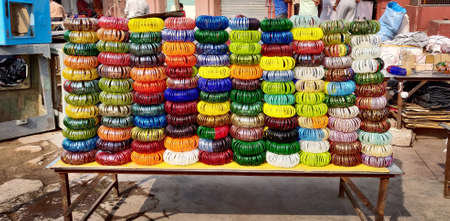 Street side Bangles shop in India